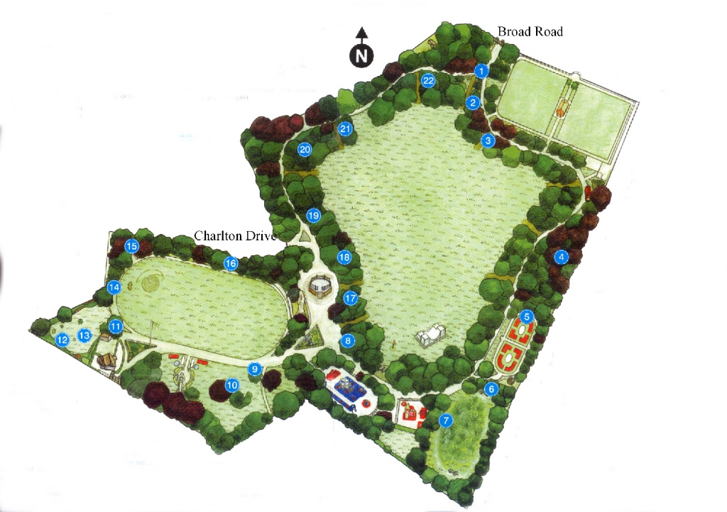 plan of Worthington PARK