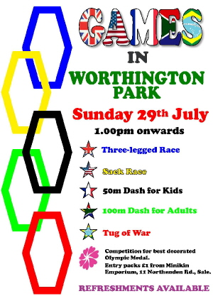 poster for games in the park 29 July