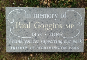 paul goggins plaque